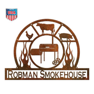 Personalized BBQ Pitmaster Metal Sign