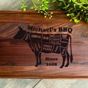 Personalized Meat Diagram Cutting Block