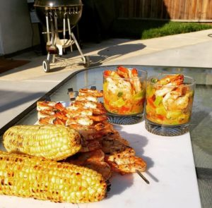 Grilled Lime Chili Shrimp and Avocado Cocktail Sauce – Recipe by Brett Roman