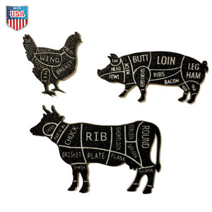 Animal Butcher Cut Magnets
